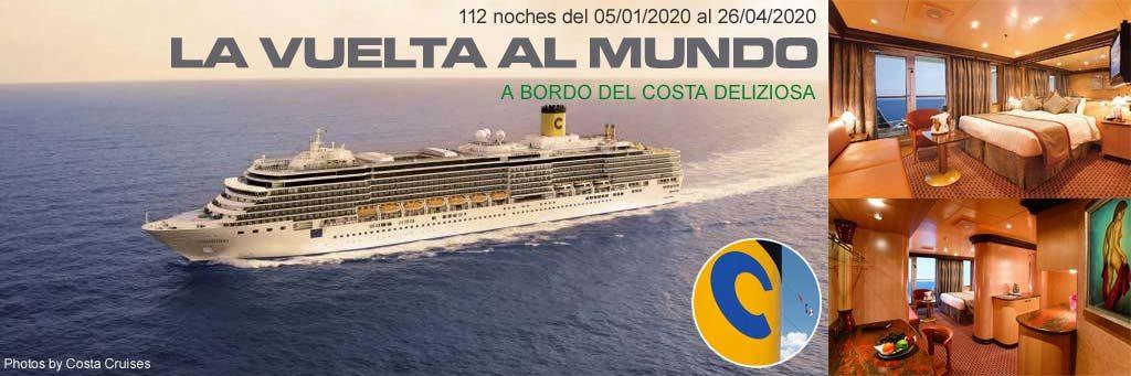 La Vuelta al Mundo a bordo del Costa Deliziosa
