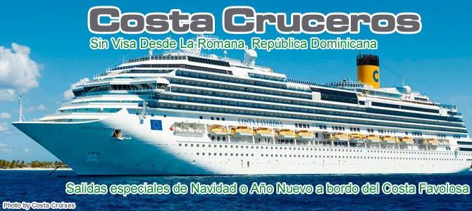 Crucero Navidad o Año Nuevo a bordo del Costa Favolosa